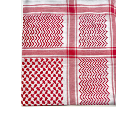 Red and White Kaffiyeh