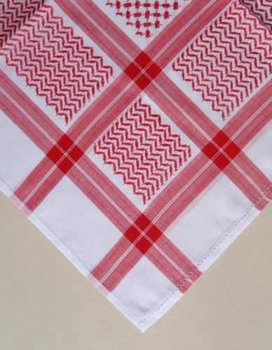 Keffiyeh Head Scarf Malaki Red White