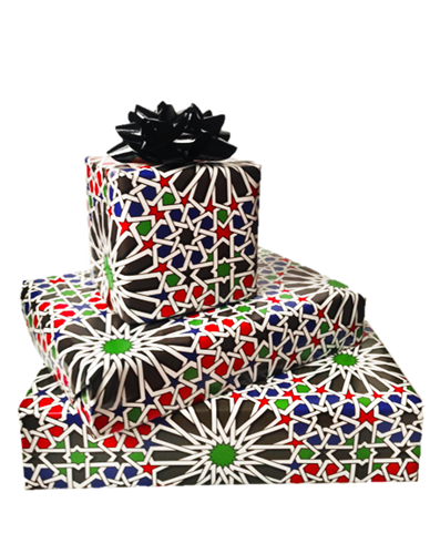 Moroccan Patterned Gift Wrapping Paper