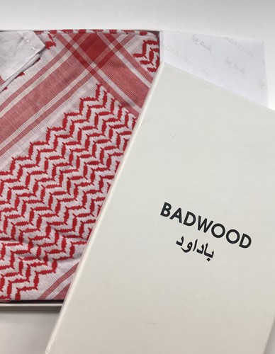 Premium Red and White Kaffiyeh - Gift Boxed