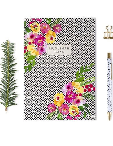 Muslimah Boss Soft Cover Notebook - Floral