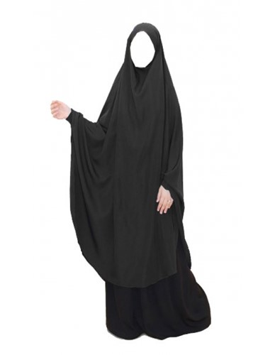 Long Black Khimar Burkha - With or Without cuff