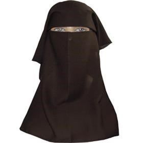 Niqaab Veil - Velcro Fastening - Single Double or Triple Layer