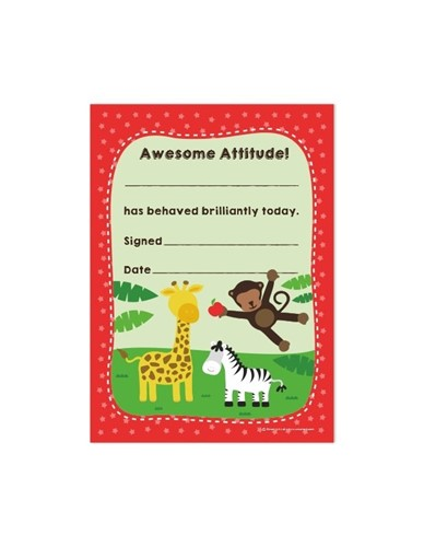 Awesome Attitude! Certificates