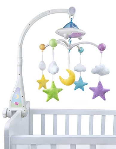 Moon and Stars Light up Cot Mobile