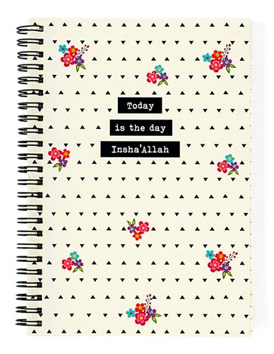Today is the day Insha'Allah Spiro Notebook