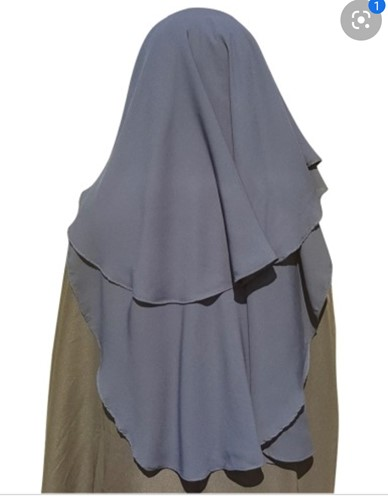 Niqaab with a long drape - Luxurious and soft -  Black only